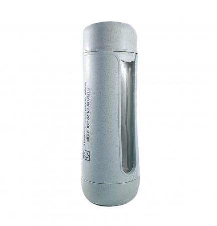 Sticla Termos ,protectie Biodegradabila, Albastru, 330 ml0