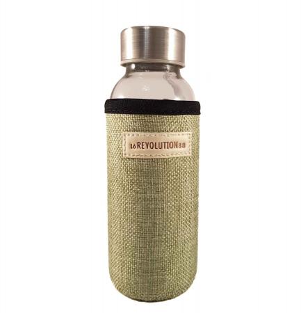 Sticla cu protectie Neopren,Verde, 300 ml0