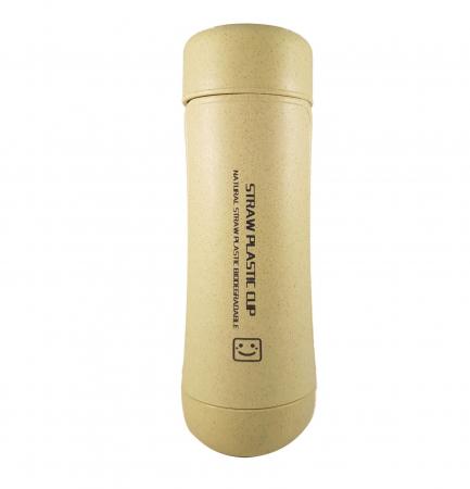 Sticla Termos,protectie Biodegradabila,Verde1
