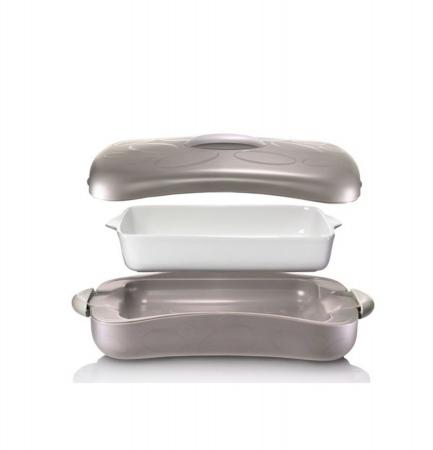 Tava ceramica CHEF cu recipient termoizolator, 2,5 litri1