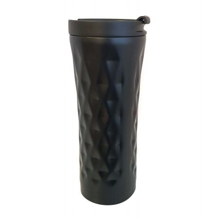Cana termos din Inox cu perete dublu, Negru, 460 ml0