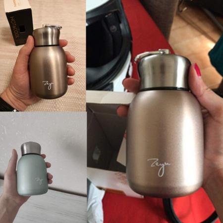 Mini Termos FASHION cu inel pentru transport, 200 ml9