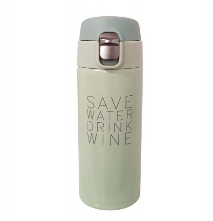 Termos Inox SAVE WATER DRINK WINE, 350 ML,2