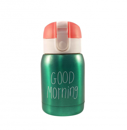 Mini Termos Good Morning, Verde, 180 ml0