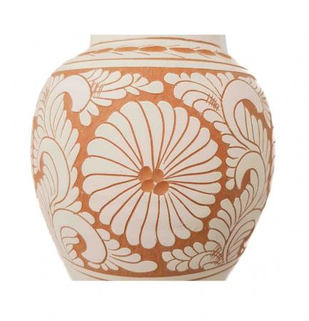 Vaza Traditionala Ceramica, lucrata manual, 8 x 26 cm [1]
