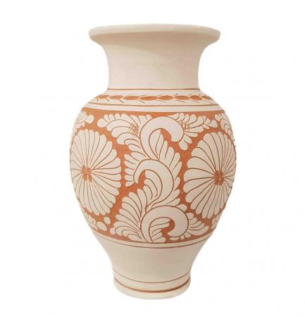 Vaza Traditionala Ceramica, lucrata manual, 8 x 26 cm [0]