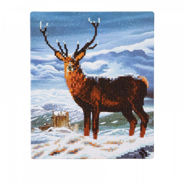 SET CREATIV DE COLECTIE CRYSTAL ART GALLERY ROYAL SCOT STAG CU SEVALET 21X25CM, CRAFT BUDDY 0