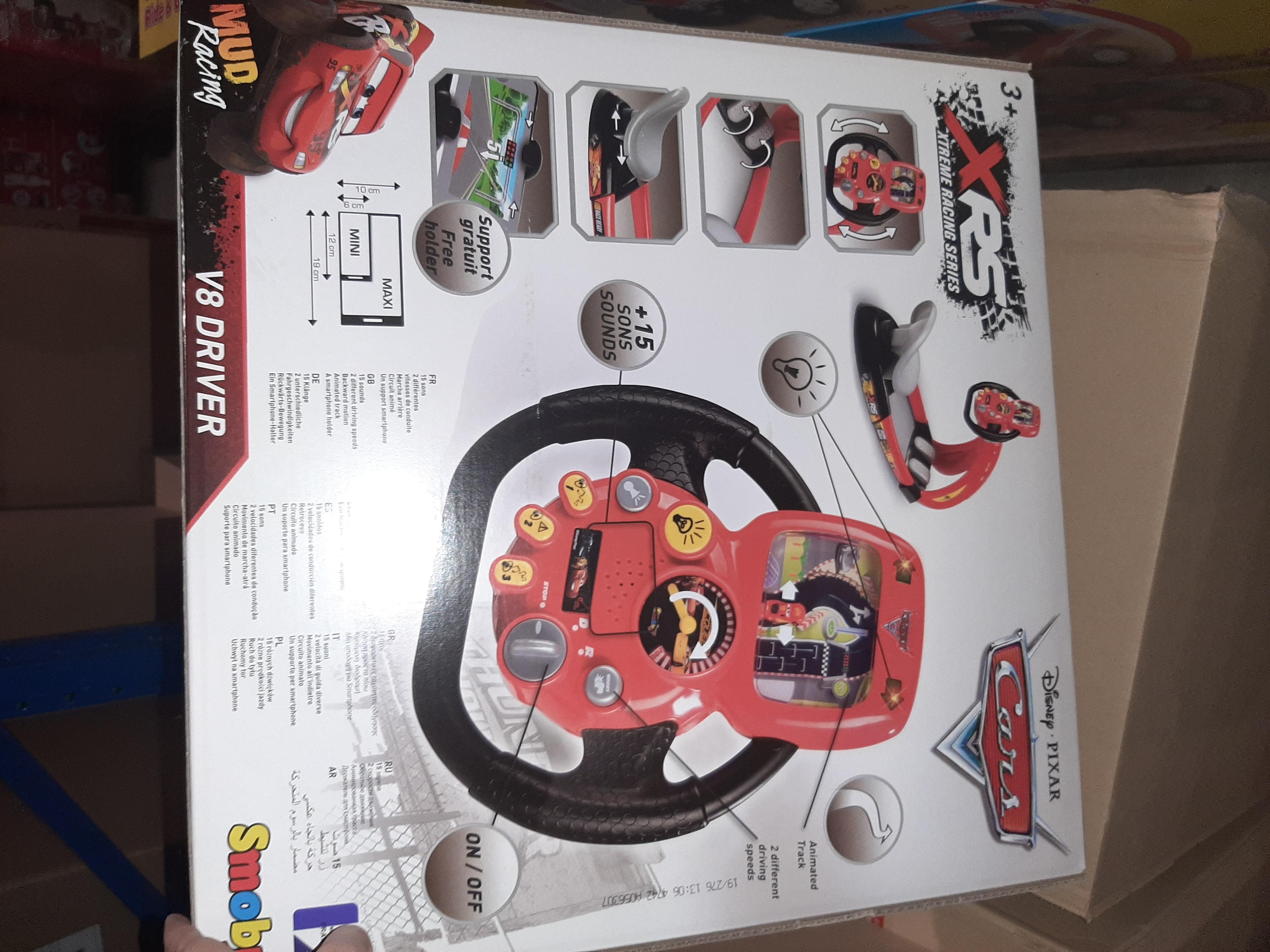Simulator auto Smoby Cars 3 V8 Driver cu suport pentru telefon 3