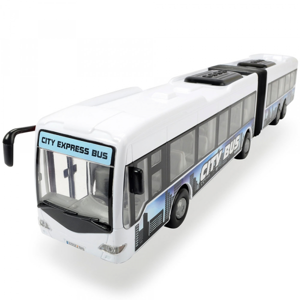 Autobuz Dickie Toys City Express Bus alb 0