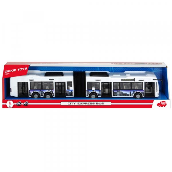 Autobuz Dickie Toys City Express Bus alb 3