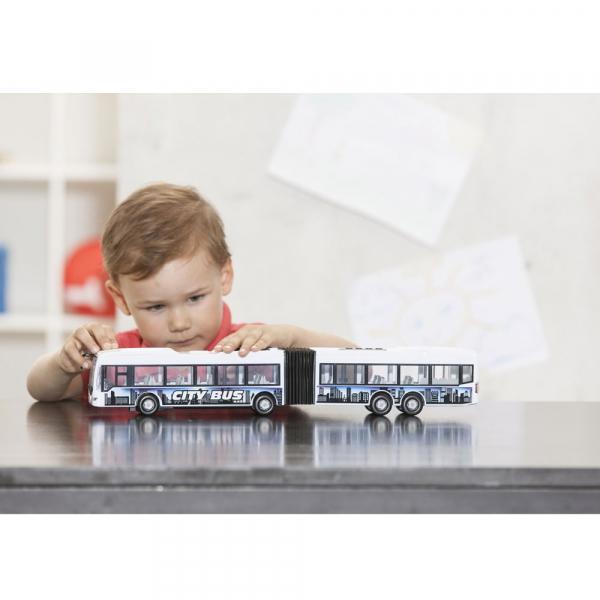 Autobuz Dickie Toys City Express Bus alb 2