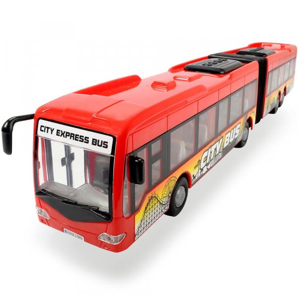 Autobuz Dickie Toys City Express Bus rosu 0