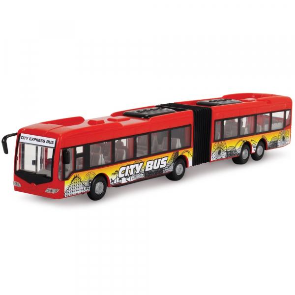 Autobuz Dickie Toys City Express Bus rosu 1