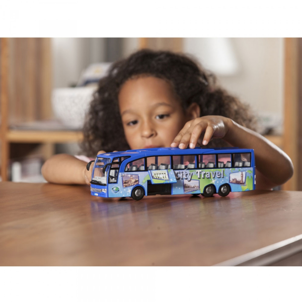 Autobuz Dickie Toys Touring Bus albastru [4]