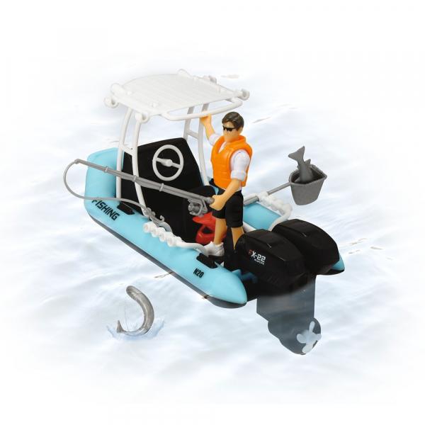 Barca de pescuit Dickie Toys Playlife cu figurina si accesorii 3