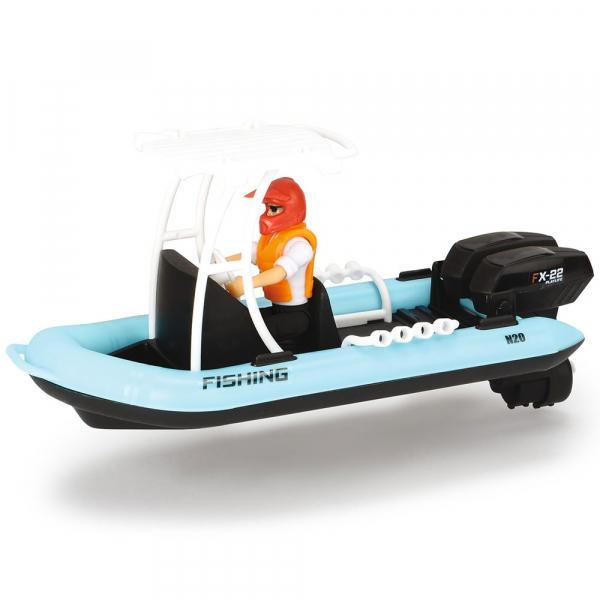 Barca de pescuit Dickie Toys Playlife cu figurina si accesorii 1