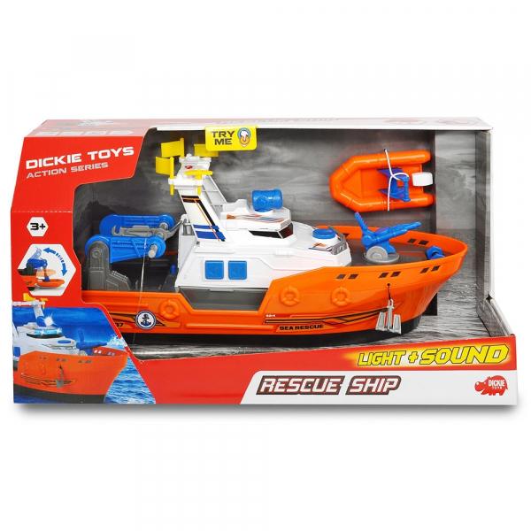 Barca de salvare Dickie Toys Harbour Rescue DT-37 cu accesorii 2