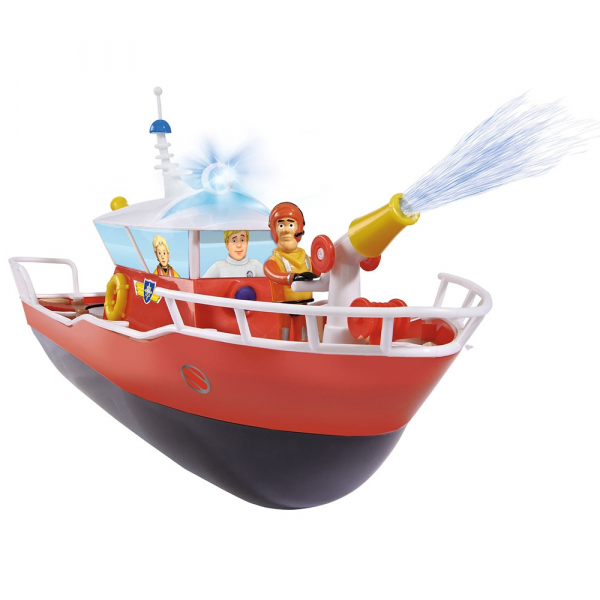 Barca Dickie Toys Fireman Sam Titan cu telecomanda si figurina Sam 1
