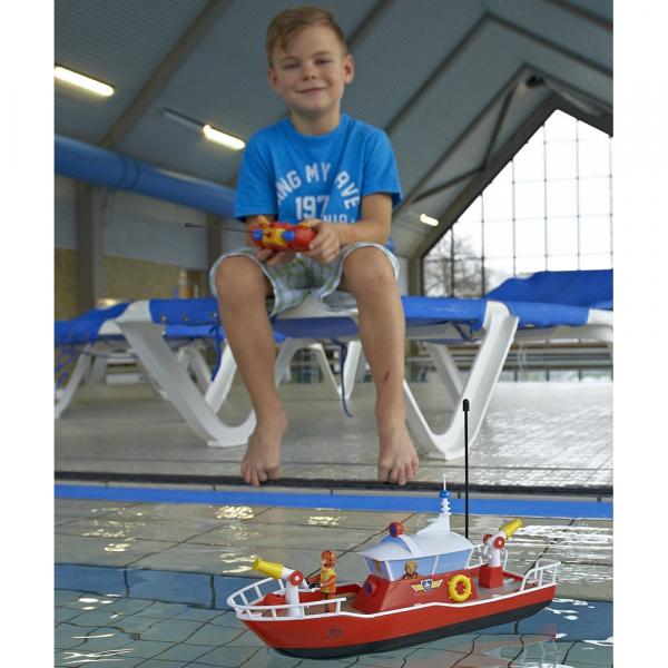 Barca Dickie Toys Fireman Sam Titan cu telecomanda si figurina Sam 7