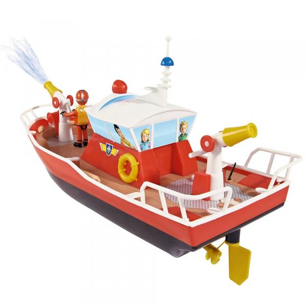 Barca Dickie Toys Fireman Sam Titan cu telecomanda si figurina Sam 2