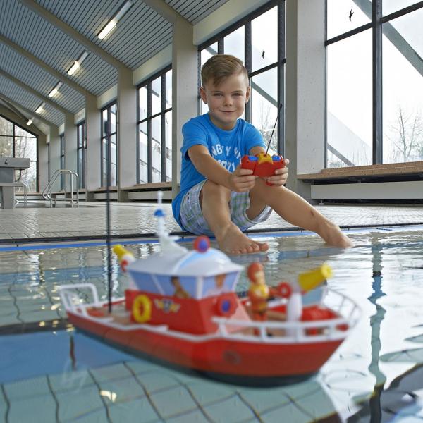 Barca Dickie Toys Fireman Sam Titan cu telecomanda si figurina Sam 5