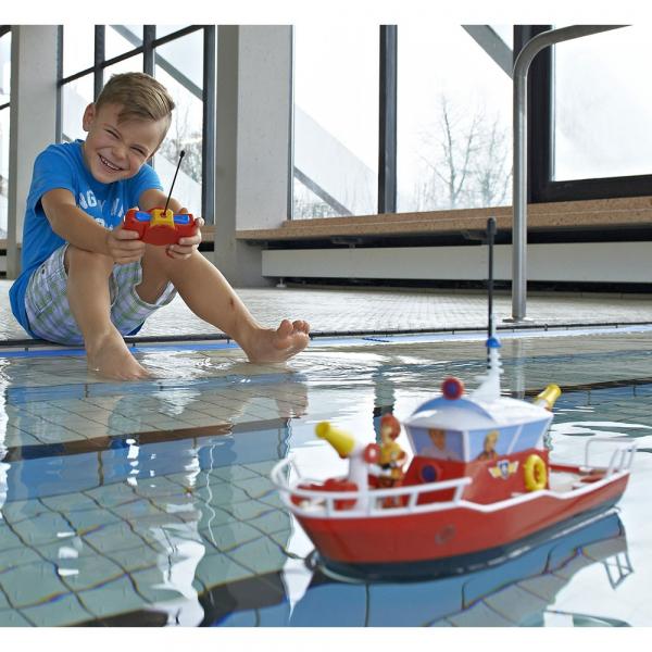 Barca Dickie Toys Fireman Sam Titan cu telecomanda si figurina Sam 6