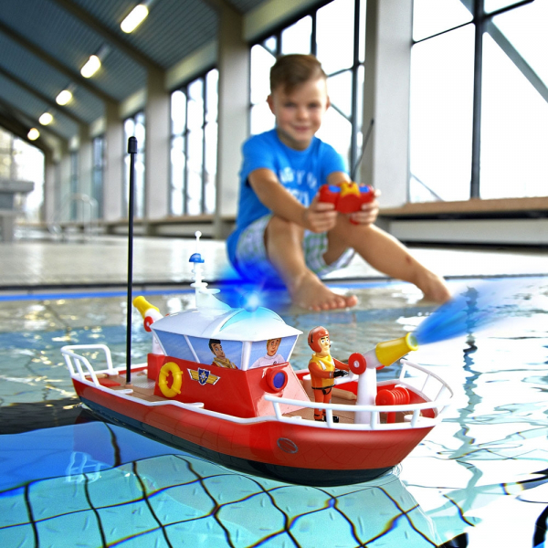 Barca Dickie Toys Fireman Sam Titan cu telecomanda si figurina Sam 4