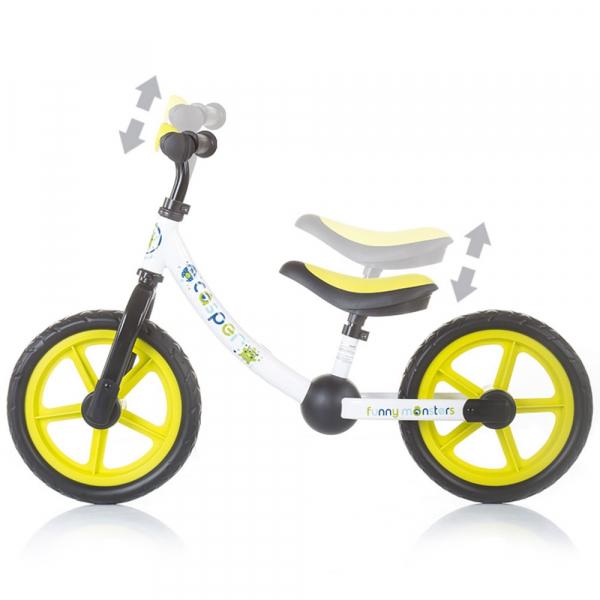 Bicicleta fara pedale Chipolino Casper funny monsters 2