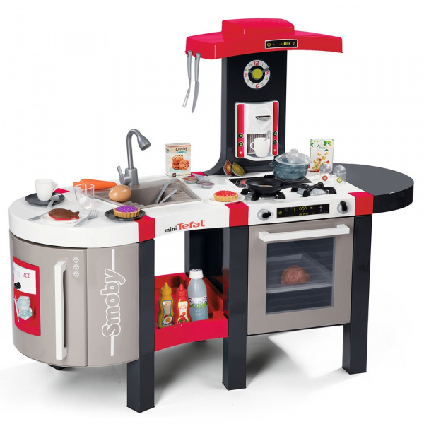 Bucatarie Smoby Tefal French Touch Bubble cu oala magica si accesorii 2