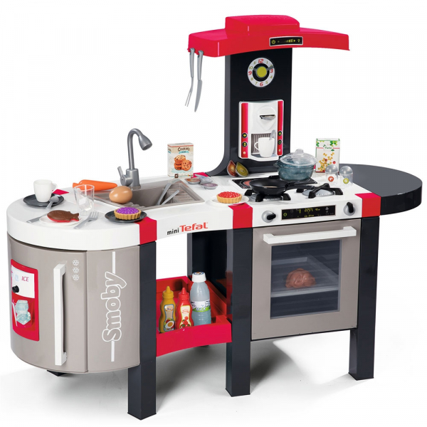 Bucatarie Smoby Tefal French Touch Bubble cu oala magica si accesorii 0