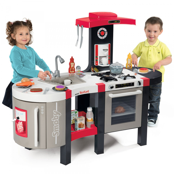 Bucatarie Smoby Tefal French Touch Bubble cu oala magica si accesorii 6