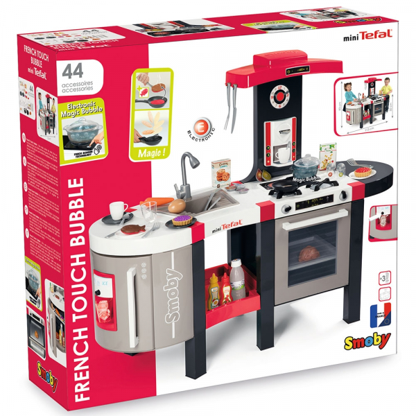 Bucatarie Smoby Tefal French Touch Bubble cu oala magica si accesorii 7