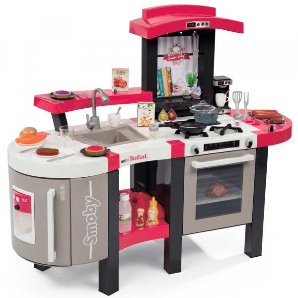 Bucatarie Smoby Tefal Super Chef Deluxe cu grill si aparat de cafea 0