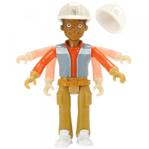 Buldozer Dickie Toys Bob Constructorul Action Team Muck cu 1 figurina Leo [5]