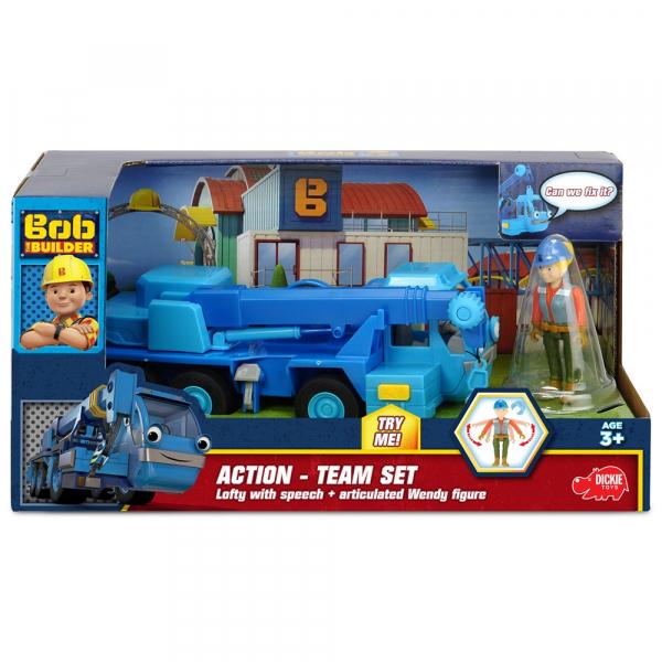 Camion Dickie Toys Bob Constructorul Action Team Lofty cu 1 figurina Wendy [7]