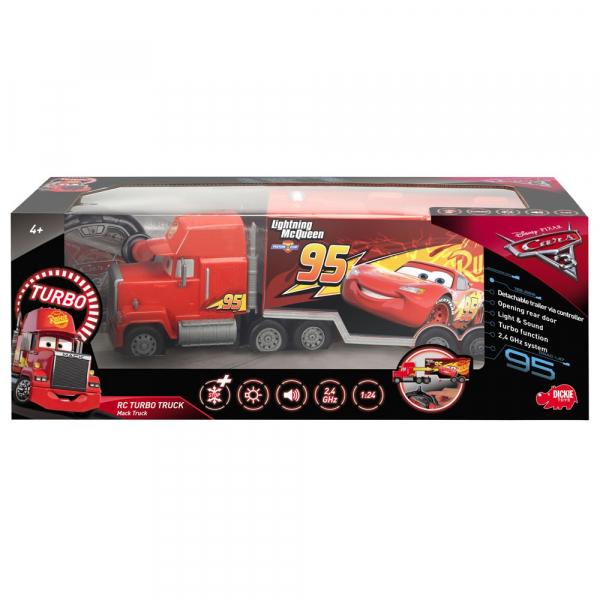Camion Dickie Toys Cars 3 Turbo Truck Mack cu telecomanda [4]