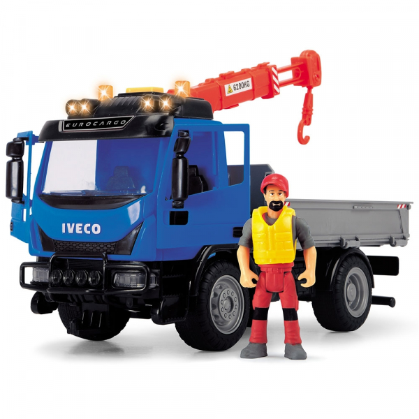 Camion Dickie Toys Playlife Iveco Recycling Container Set cu figurina si accesorii [3]