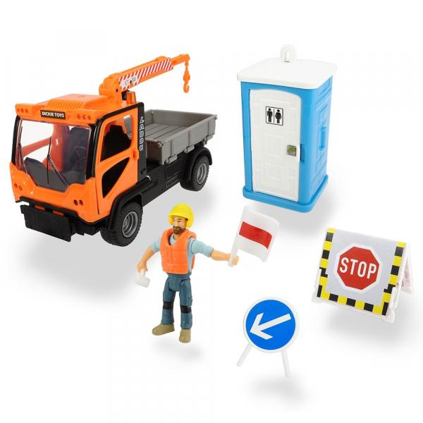 Camion Dickie Toys Playlife M.T. Ladog Service Set cu figurina si accesorii 0