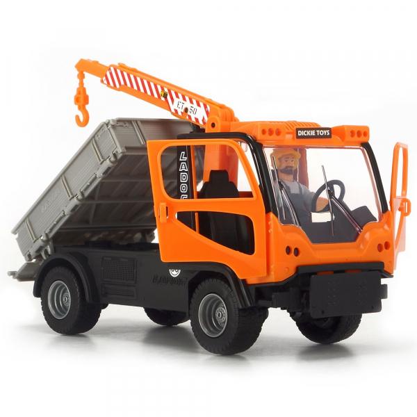 Camion Dickie Toys Playlife M.T. Ladog Service Set cu figurina si accesorii 5