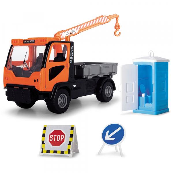 Camion Dickie Toys Playlife M.T. Ladog Service Set cu figurina si accesorii 2