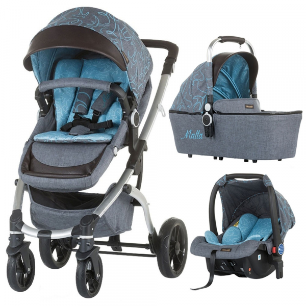Carucior Chipolino Malta 3 in 1 sky blue 0