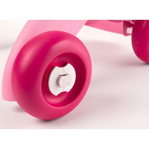 Carucior pentru papusi Smoby Minikiss 3 in 1 roz 5