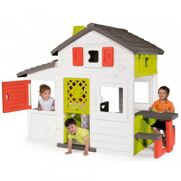 Casuta pentru copii Smoby Friends Playhouse cu bucatarie 1
