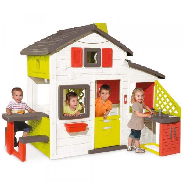 Casuta pentru copii Smoby Friends Playhouse cu bucatarie 0