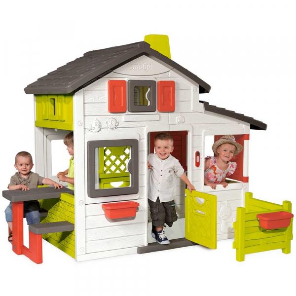 Casuta pentru copii Smoby Friends Playhouse cu gradina [4]