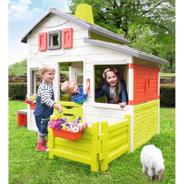 Casuta pentru copii Smoby Friends Playhouse cu gradina [6]