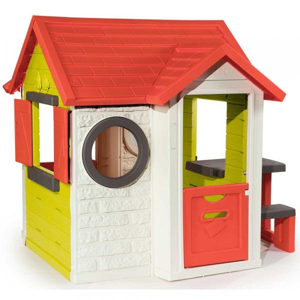 Casuta pentru copii Smoby My House cu masuta picnic 1