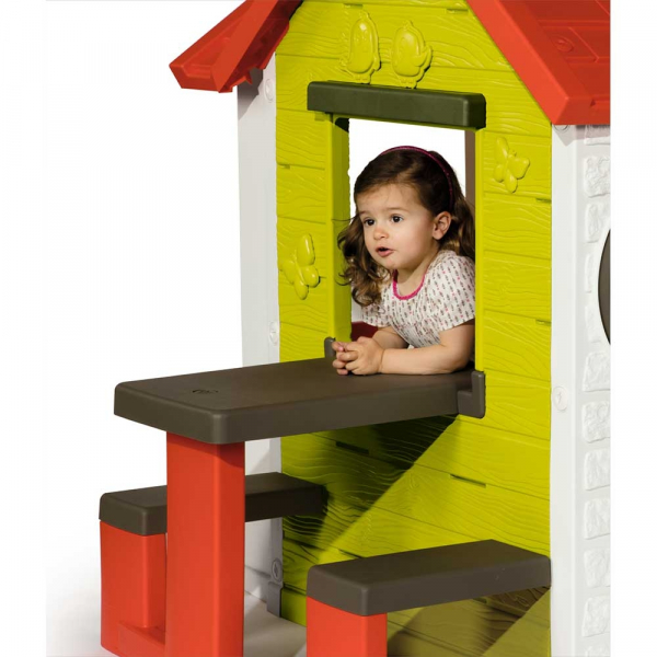 Casuta pentru copii Smoby My House cu masuta picnic 4