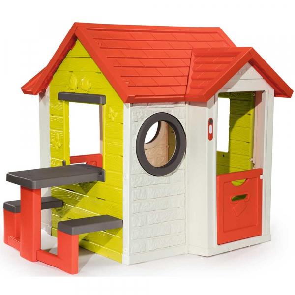 Casuta pentru copii Smoby My House cu masuta picnic 0