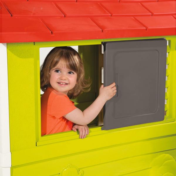 Casuta pentru copii Smoby Nature Playhouse 2